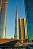 Burj Khalifa, Dubai (Bokeh & Travel) Tags: burjkhalifa skyscraper dubai architecture uae united arab emirates modern tallest skyscrapers beautiful gold goldhour sunset sunsetcolors sunsetlight sheikhzayed sheikh zayed metro station dubaimall perspective pov