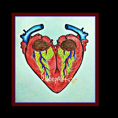 """#Ever wonder why a Drwaing of a heart doesn't look like an actual human heart ? The  symbol we use today came from the idea of two Human hearts being fused together as one, forming the iconic Heart-shaped symbol we know as  """"Love""""_ (laxmideep) Tags: ever"""