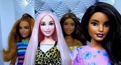 Pink stare (Nickolas Hananniah) Tags: barbie barbiedoll fashionistas fashiondoll fashion portrait curvybarbie curvydoll playline doll dolls african pink smile toy