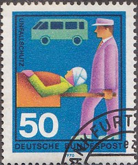 Deutsche Briefmarken (micky the pixel) Tags: briefmarke stamp ephemera deutschland bundespost hilfsorganisation freiwilligehilfsdienste unfallschutz safety ambulanz ambulance