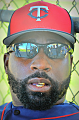 The Healthy Alternative to the Chew -- Tommy Watkins (forestforthetress) Tags: tommywatkins baseball team sport springtraining minnesotatwins omot nikon outdoor color sunflowerseeds face people