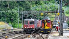 SBB Re 620 065 (Re 6'6 11665) & Re 4'4 2 11341 Amsteg-Silenen 07 July 2015 (1) (BaggieWeave) Tags: switzerland swiss swisstrains swissrailways gotthardrailway gotthard gotthardbahn sbb cff ffs re44 re66 amsteg silenen