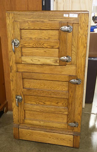 Oak Ice Box with 2 Doors ($420.00)