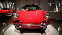 Porsche 901 at Petersen's Auto Museum (Randy Durrum) Tags: porshce 901 petersen petersens museum red 964 durrum samsung galaxy s0 s9 plus