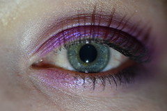 An eye for an eye (Mikon Walters) Tags: eye eyeball see you macro lens photography nikon d5600 sigma 105mm retina pupil iris close up eyes make eyelashes lashes blue deep eyeliner liner eyeshadow shadow mascara glitter pink purple sparkly sparkles