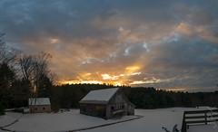 Sunset 2.15.19 (koperajoe) Tags: barn winter sunset westernmassachusetts panorama rural farmstead newengland snow