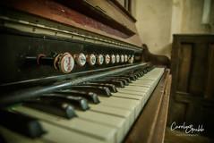 Church organ (Caroline Grubb Photography) Tags: inglesham st john baptist pray prayer worship religion church 1000 organ knob twist turn keys ivory ivories cotswolds winter