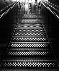 Club Brass (Missy Jussy) Tags: clubbrass hotelgotham gotham manchester stairs steps railings artdeco mono monochrome blackwhite bw blackandwhite iphone