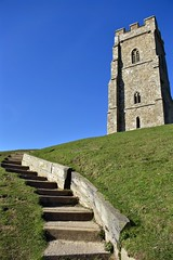Stairway to Heaven (Nige H (Thanks for 15m views)) Tags: nature landscape stairs steps somerset england glastonburytor stairwaytoheaven colour contrast green blue