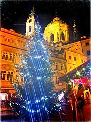 Happy New Year !!! 🎈🎄☃️ (maryduniants) Tags: catholic stnicholaschurch stnicholas malostranskénáměstí prag praga praha europe cathedral church czechrepublic prague winter christmastree christmas