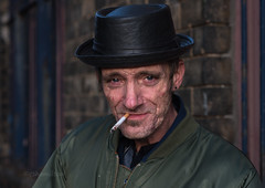Rob, Trongate (Charles Hamilton Photography) Tags: glasgowstreetportrait characterstudy colourstreetportrait trongate character faceinthecity stranger naturallight primelens peopleinthecity style hat cigarette eyecontact nikond750 glasgowstreetphotography citycentre urbanscene charleshamilton