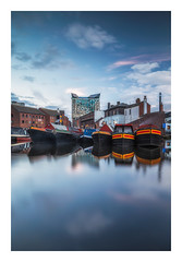 Gas Street Blues (Vemsteroo) Tags: gasstreet gasstreetbasin bluehour birmingham dusk sunset water canalgrandunioncanal canalboats boats brum westmidlands beautiful still longexposure leefilters canon 5d mkiv zeiss zeisslenses 25mm 14 milvus manual circularpolariser nsgrad