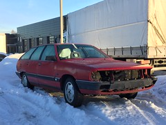 Audi 100 Avant (Older and rare cars in Norway) Tags: audi 100 avant carspotting