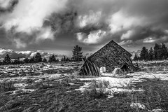 Grant County, Oregon (paccode) Tags: solemn d850 landscape winter brush blackwhite quiet clouds abandoned oregon monochrome sled farm house shack lonely scary forgotten serious creepy field mountvernon unitedstates us