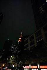 Darkness of Night (Jocey K) Tags: empirestatebuilding sonydscrx100m6 triptocanadaandnewyork architecture buildings evening illumination nighttourhopandhopoffbus trees newyorkcity