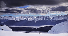 Mountain walking (Jacques Rollet (very little available)) Tags: groupenuagesetciel montagne mountain snow neige cloud nuage winter hiver