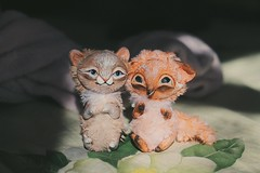 Little friends (Alex__Houston) Tags: polymerclay animal handmade ooaktoy selling doll toy ooak crafting craft