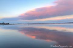 Lake Michigan ... sunset, reflected II (Ken Scott) Tags: sunsetreflected lookingeast grandtraversebay westbay leelanau michigan usa 2019 january winter 45thparallel hdr kenscott kenscottphotography kenscottphotographycom freshwater greatlakes lakemichigan