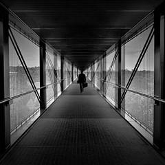 When nothing goes right Go left (Fan.D & Dav.C Photgraphy) Tags: travel city architecture street urban cityscape light europe tourism bridge sidewalk black white walking man walkalone mystery shadow