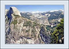 View From Glacier Point - Yosemite Nat'l. Park, 1976 (sjb4photos) Tags: california yosemitenationalpark halfdome glacierpoint epsonv500 sierranevada