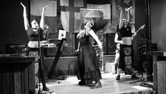 Event Horizon March 2019 016 (byronv2) Tags: music musician woman women makeup stage band krow krowandtheelectrictemple goth gothic punk electro blackandwhite blackwhite bw monochrome dance shorelineofinfinity eventhorizon edinburgh edimbourg scotland frankensteins georgeivbridge