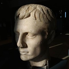 Head of Roman Emperor Augustus, marble, Roman Period, 1st cen. AD, Troy Excavations, Troy Museum. (ancient pix) Tags: ancient history ancienthistory photo photography culture art arts archaeology archeology