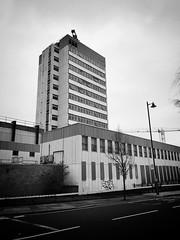 Police Station, Brentford (dominicirons) Tags: brentford westlondon redevelopment halfacre policestation disused blackwhite blackandwhite