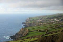 Azores Coast (gooey_lewy) Tags: azores sau miguel portugal island chain atlantic ocean coast line green sea water fields