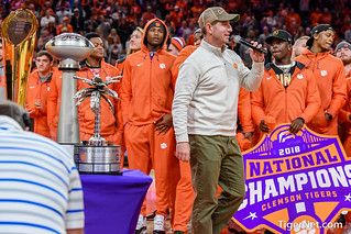 National Champs honored at Clemson bball game Photos
