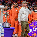 National Champs honored at Clemson bball game