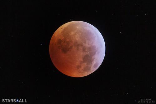 Medio de la totalidad eclipse Luna 21 enero 2019