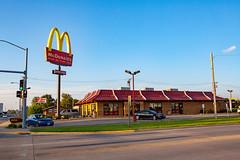 McDonald's (ezeiza) Tags: kansas ks iola mcdonalds goldenarches golden arches fastfood fast food restaurant door sign drivethrough drivethru drive through thru mansard roof acuratsx acura tsx
