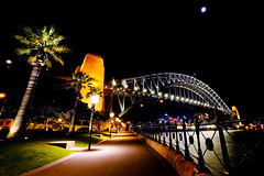 Night time at The Rocks (Rob Harris Photography) Tags: nightscape lights night newsouthwales sydney sydneyharbourbridge harbourbridge harbour bridge outdoors tourism travel travelphotography landscape landscapephotography cityscape city port portjackson coathanger thecoathanger structure engineering construction icon iconic dramatic transport transportation