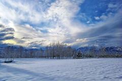 Se non sarà seren si rasserenerà... (claudio g) Tags: neve snow alba sunrise winter inverno bianco white sky nature piemonte italia mondovì