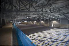 Liepājas domes vadība iepazinās ar Liepājas tenisa halles celtniecības gaitu