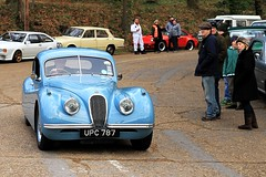 1954 Jaguar XK120 UPC 787 (BIKEPILOT, Thx for + 5,000,000 views) Tags: brooklandsnewyearsdaygathering brooklandsmuseum weybridge surrey uk 2019 1954 jaguar xk120 upc787 blue england britain car automobile vehicle transport classic vintage sportscar icon motion