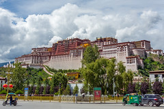 Potala Palace (roevin | Urban Capture) Tags: lasashi xizangzizhiqu china lhasa architecture ancient old decorative house building buildings perspective view ornament palace temple religion mountain castle walkway entrance potala tibet buddhism history crossing street