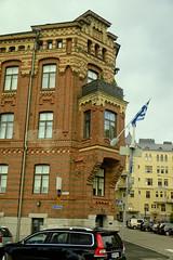 A9730HELSb (preacher43) Tags: helsinki finland building architecture sky clouds flag