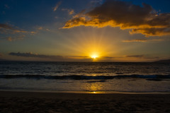 Nearly Lost (Kirt Edblom) Tags: maui mauihawaii kiheihawaii kih scenic serene gaylene wife sunset milf sunlight sunburst water waves waterscape clouds tropical pacific pacificocean ocean sun surf beach sand bluesky blue coast seascape hawaii maipoinabeachpark park maipoinaoeiaupark kirt kirtedblom edblom nikon nikond7100 nikkor18140mmf3556 luminar