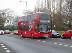 SLN 12381 - YX16OGV - ELTHAM ROAD - SAT 16TH FEB 2019 (Bexleybus) Tags: stagecoach london selkent tfl route 122 adl dennis enviro 400 mmc eltham road se9 south east 12381 yx16ogv hybrid