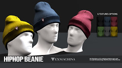 EXMACHINA HIPHOP BEANIE (Ramses Meredith) Tags: dubai event exmachina secondlife second life ramses meredith models modeling beanie hat bonnet hud driven