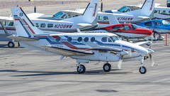 Beech C90A King Air N424EM (ChrisK48) Tags: kdvt kingair airplane phoenixaz aircraft beechcraft n424em 1993 dvt beechc90a phoenixdeervalleyairport