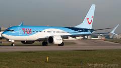 TUI Airways Boeing 737-MAX 8 G-TUMB (StephenG88) Tags: manchesterairport southside man egcc 23l 23r boeing airbus 25thfebruary2019 25219 22519 lineup takeoff tuiairways tom by thomson tui tuiuk 737 7378 max 737max8 7378max gtumb