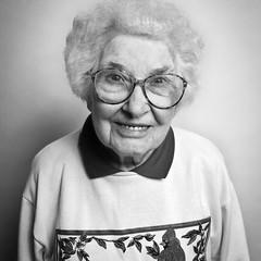 """Betty"" (clementij) Tags: people betty blackwhite lady"