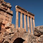 Columns of an ancient Roman temple of Jupiter. Baalbek, Lebanon thumbnail