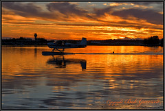 Sunset on Lake Hood (Bob Garrard) Tags: sunset lake hood seaplane base anchorage alaska cessna 180 n180jp palh lhd