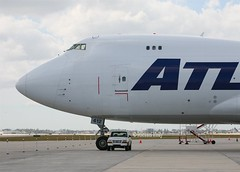 Atlas Air                                       Boeing 747                              N412MC (Flame1958) Tags: atlasair atlasairb747 boeing747 b747 747 jumbojet n412mc 7661 americanairlinesmaintenance mia kmia miamiairport flap flap2019 150219 0219 2019