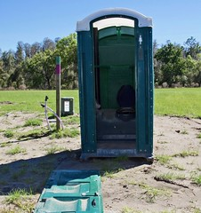 A little Privacy Please! (The Vintage Lens) Tags: porta potty bathroom toilet outside
