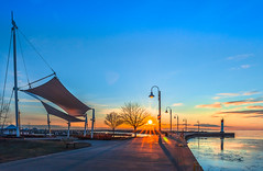 Morning Mood (Daniel Q Huang) Tags: harbour sunrise clouds morning lake winter ice sails landscape seascape ngc