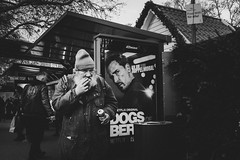I see you (Zesk MF) Tags: bw black white mono street seen candid people strase human zesk cologne x100f fuji smoking beer